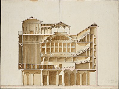 A Cross Section of the Interior of a Theatre: The Panthéon in the Place du Carrousel, Paris, in 1786.