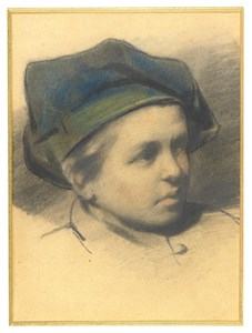 The Head of a Young Boy Wearing a Cap