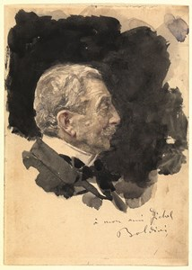 A Man in Profile (Portrait of Eugène Fichel)