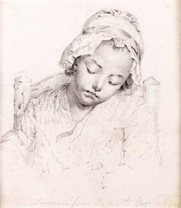 A Young Girl Asleep