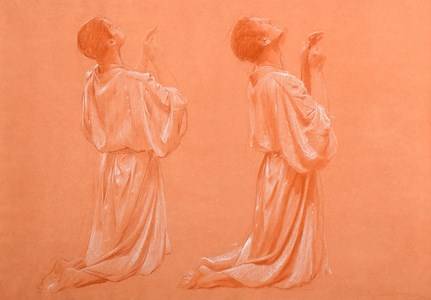 Two Studies of a Kneeling Youth