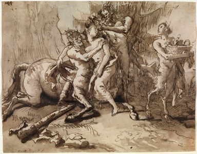 A Centaur with Two Satyrs and a Woman (Nessus and Deianira?)