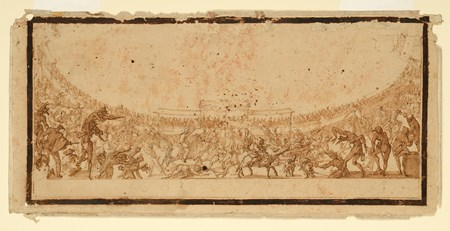 Compositional Study for 'Le Combat des Section d'Infanterie' from 'La Guerre d'Amour'