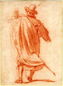 A Standing Cavalier, Seen from Behind