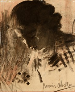 The Head of a Young Woman Looking Down