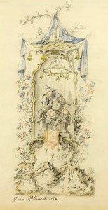 A Chinoiserie Design, with a Seated Oriental Musician