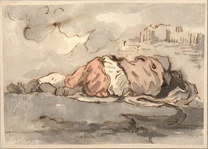 Study of a Sleeping Youth, Seen from Behind