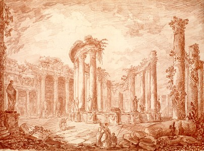 The Ruins of the Macellum ('Temple of Jupiter Serapis') at Pozzuoli