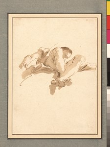 A Study for a Ceiling: A Seated Figure on a Cloud