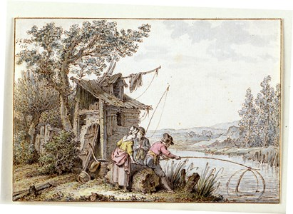 Landscape with Two Fishermen and a Woman