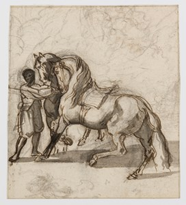 A Groom with Two Horses