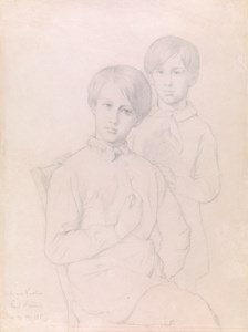 Double Portrait of Two Young Brothers