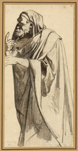 Study of a Standing Draped Man