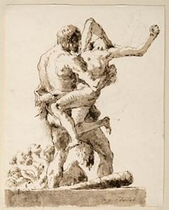 Hercules and Antaeus, with the Hydra Below [recto]; Hercules and Antaeus [verso]