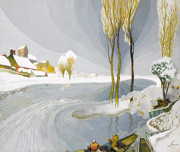 Winter Landscape with Fishermen