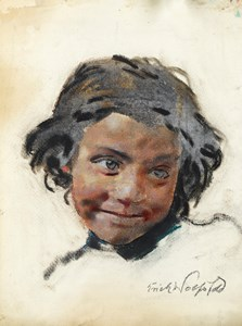 Study of a Smiling Arab Girl
