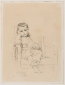 Portrait of a Young Boy Seated in a Chair