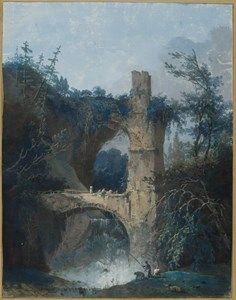 Fishermen by the Ruins of an Aqueduct, possibly the Aqua Anio Vetus