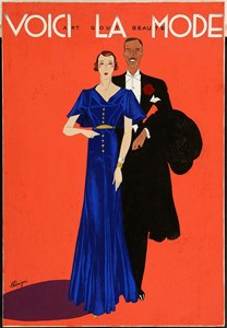 An Elegant Couple: Design for the Cover of the Magazine Voici La Mode / Art Goût Beauté
