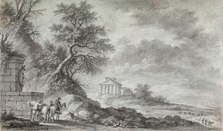 Horsemen in a Landscape with Classical Ruins