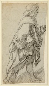 A Draped Male Figure, Striding to the Right