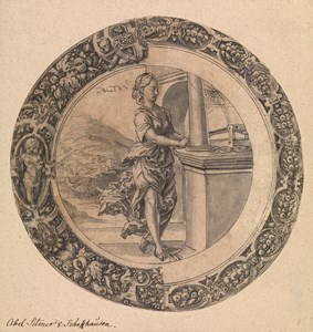 An Allegory of Touch: Design for a Stained-Glass Roundel