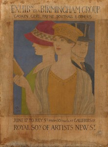 Visitors to an Exhibition: Design for a Poster