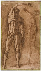 Two Studies of a Flayed Male Nude, after Pietro Francavilla