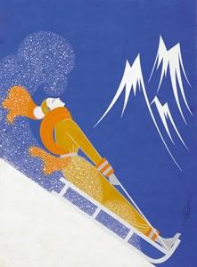 Sports d'Hiver: A Cover Illustration for Harper's Bazaar Magazine