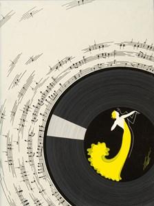L'Invitation à la Valse: A Proposed Cover Illustration for Harper's Bazaar Magazine