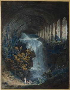 Fishermen by a Cascade in the Stables of the 'Villa of Maecenas' at Tivoli