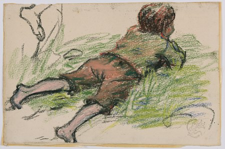 Study of a Young Boy Lying on his Stomach