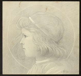 Head of a Young Boy in Profile