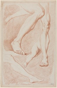 A Sheet of Studies of Five Legs, One of a Child