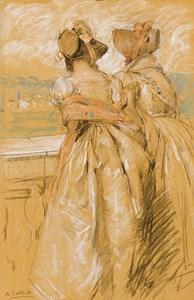 Two Women on a Balcony