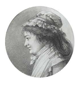 Portrait of a Woman in Profile, Wearing a Bonnet
