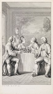 Figures Seated at a Table in an Interior