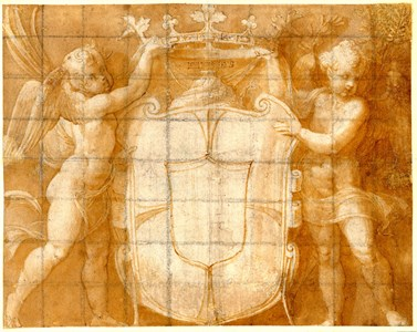 Two Putti Flanking the Gonzaga Coat of Arms