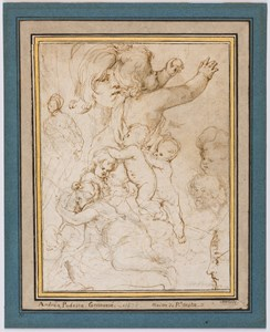 Studies of Putti and Children, Heads and a Woman [recto]; Studies of Putti and a Woman [verso]