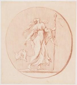 A Dancing Maenad with a Sacrificial Lamb