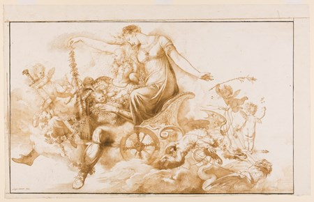Rinaldo and Armida on a Chariot Drawn by Dragons