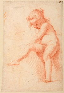 Study of a Seated Nude Girl