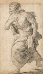 A Striding Figure, after Francesco Salviati