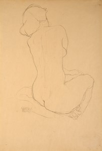 Study of a Female Nude, Seen from Behind