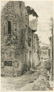 An Alley in a Mountain Town, Possibly in the South Tyrol