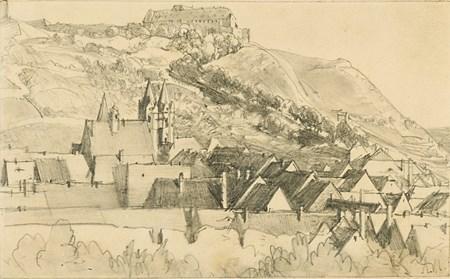 A View of Freyburg, with Schloss Neuenburg