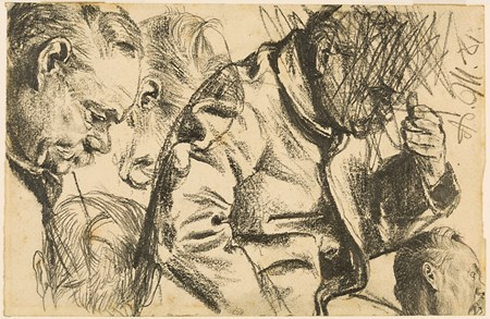 Studies of a Man with his Head Bowed