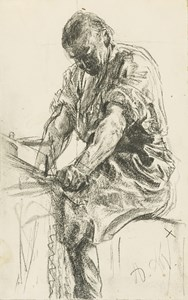 A Man at a Grinding Stone