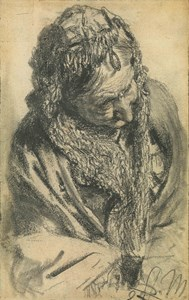 Head of an Old Woman with a Shawl