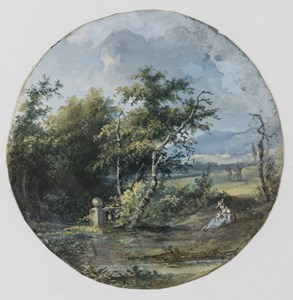 A River Landscape with a Seated Woman